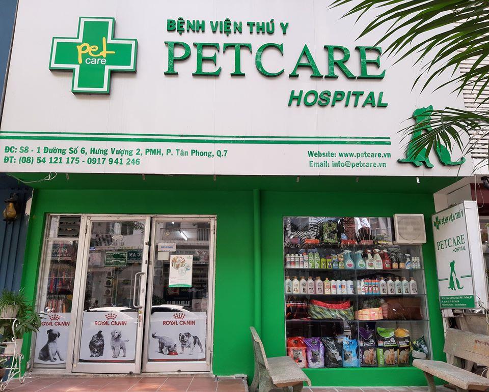 bệnh viện thú y petcare tphcm