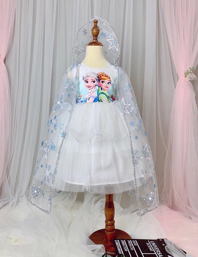váy công chúa elsa cho bé ở hà nội