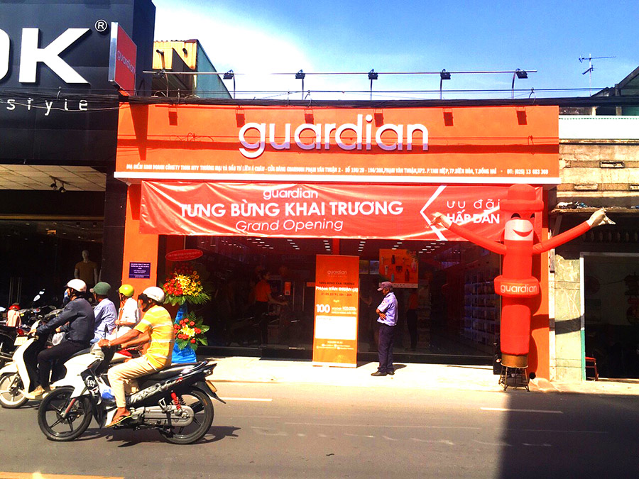 cửa hàng mỹ phẩm guardian biên hòa