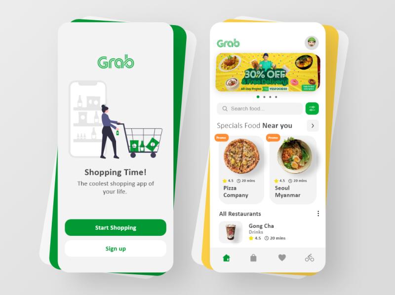 app đặt đồ ăn Grab Food