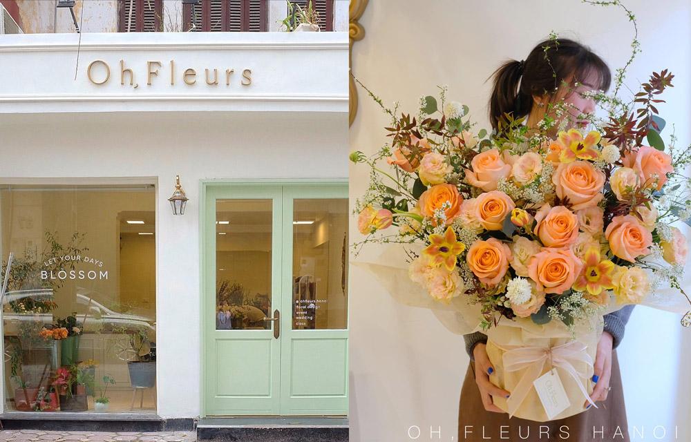 tiệm hoa đẹp ở hà nội